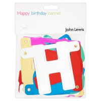 John Lewis banner happy birthday