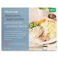 Waitrose gammon in parsley sauce