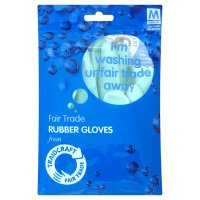 Traidcraft rubber gloves medium