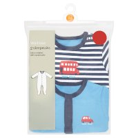 Waitrose 2 pack boys sleepsuits