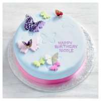 Fiona Cairns Butterflies Birthday Cake image