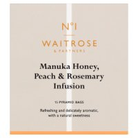 Waitrose 1 honey, peach and rosemary pyramid bags x15