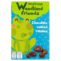 Waitrose Woodland friends chocolate coated raisins