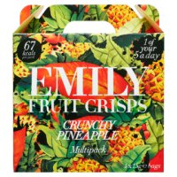 Emily Fruit Crisps Crunchy Pineapple Mini Packs