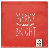 Waitrose Home Red Merry & Bright Napkins