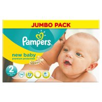 Pampers New Baby Size 2 Jumbo 74 Nappies