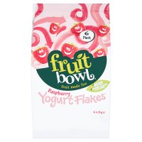 Fruit Bowl Raspberry Yogurt Flakes