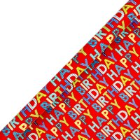 Waitrose 2m bright Happy Birthday giftwrap