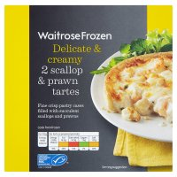 Waitrose Frozen 2 scallop & prawn tartes fine