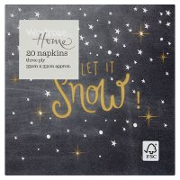 Waitrose Home Let it Snow Napkins