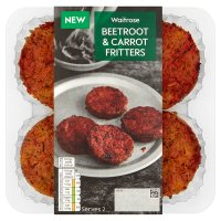 Waitrose Beetroot & Carrot Fritters