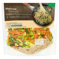 Waitrose Wholewheat Noodles & Vegetable Stir Fry