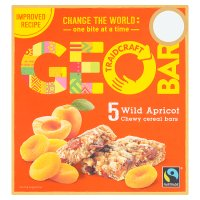 Geobar Fairtrade Wild Apricot Chewy Cereal Bars