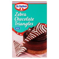 Dr Oetker zebra chocolate triangles