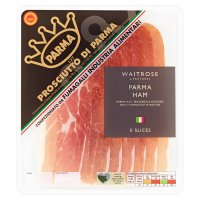 Waitrose farm assured Italian Parma ham, 7 slices