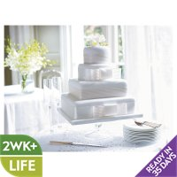 Fiona Cairns 4-tier Ribboned Wedding Cake (Sponge)