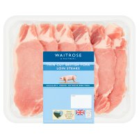 essential Waitrose British Outdoor Bred pork thin cut loin steaks