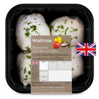 Waitrose British boneless chicken thighs with Mediterranean couscous stuffing
