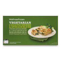 Waitrose 2 vegetarian goats cheese & spinach slices