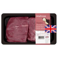 Waitrose 2 Hereford beef flat iron steak