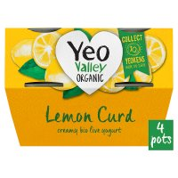 Yeo Valley 4 organic lemon curd yogurts