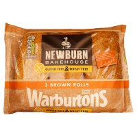 Warburtons gluten free & wheat free brown rolls