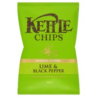Kettle chips seasonal edition lime & black pepper
