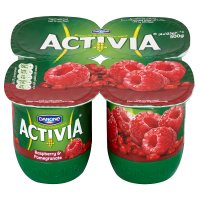 Activia raspberry & pomegranate yogurts