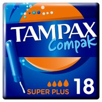 Tampax Compak Super Plus Applicator Tampon Single 20PK