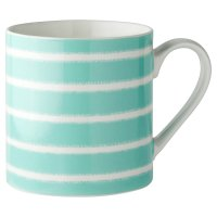 Waitrose Teal Stripe Fine China Mug