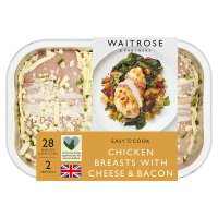 Waitrose Easy To Cook cheese & bacon chicken breasts