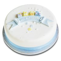 Toys Christening Cake - Blue Train - Chocolate (25cm)
