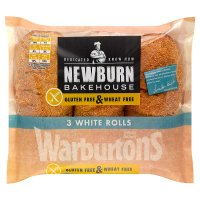 Warburtons gluten & wheat free white rolls