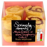 Waitrose Seriously mini lemon & mini raspberry cakes
