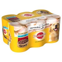 Pedigree can selection gravy with marrowbone