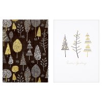 Waitrose White Black Trees Cards