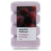essential Waitrose sweet plum & mimosa soap - 4 bar