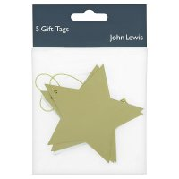 John Lewis gift tags gold star