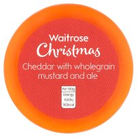 Waitrose Christmas Cheddar with mustard & ale