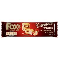 Fox's Viennese whirls strawberry & cream