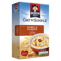 Quaker Oats So Simple honey & almond porridge cereal sachets