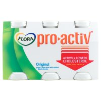 Flora Pro.activ original 6 pack yoghurt mini drink