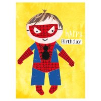 Image of Illustrated Superhero Birthday Card