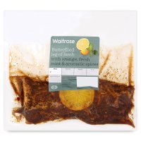 Waitrose British butterflied leg of lamb with orange, mint and mixed spices