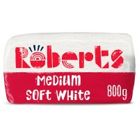 Roberts Bakery medium white sliced bread