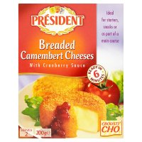 President breaded camembert cheese