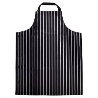 WR Navy Butchers stripe apron