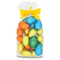 Milk chocolate mini hollow Easter eggs