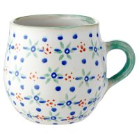Waitrose Green & Blue Floral Mug
