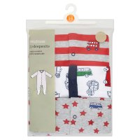 Waitrose boys sleepsuits, pack of 3